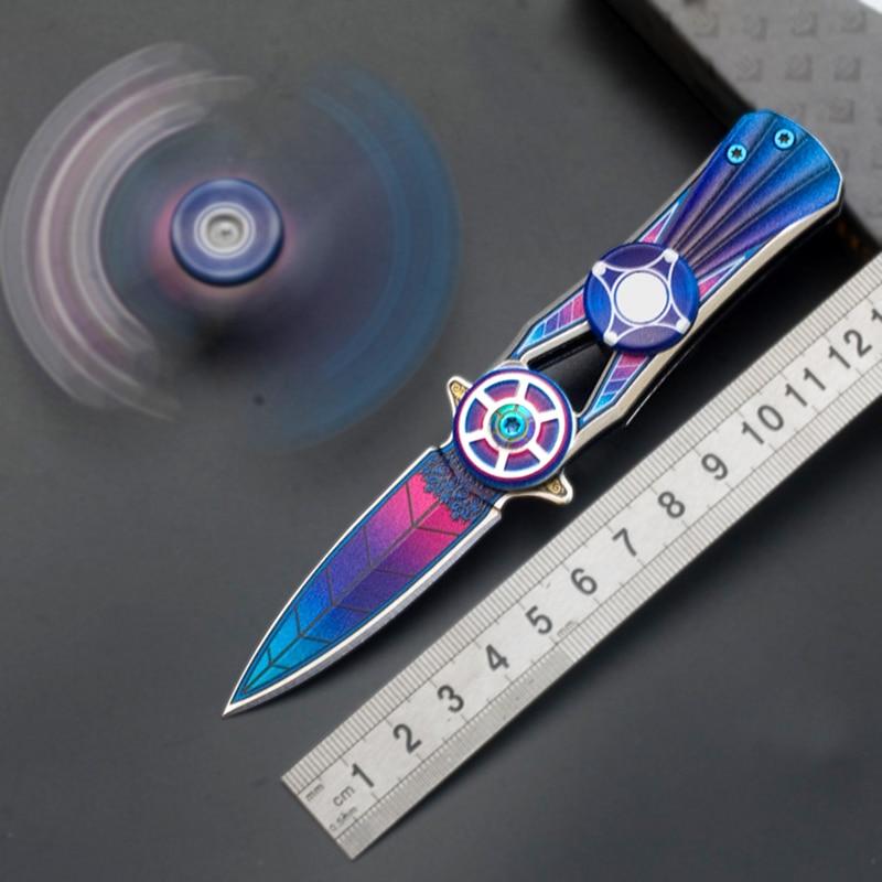 2019 3D Cool Tip Gyro Tactical Survival Camping Knife Folding Blade Multi Knife Pocket Combat Knife Self Defense Security Knife