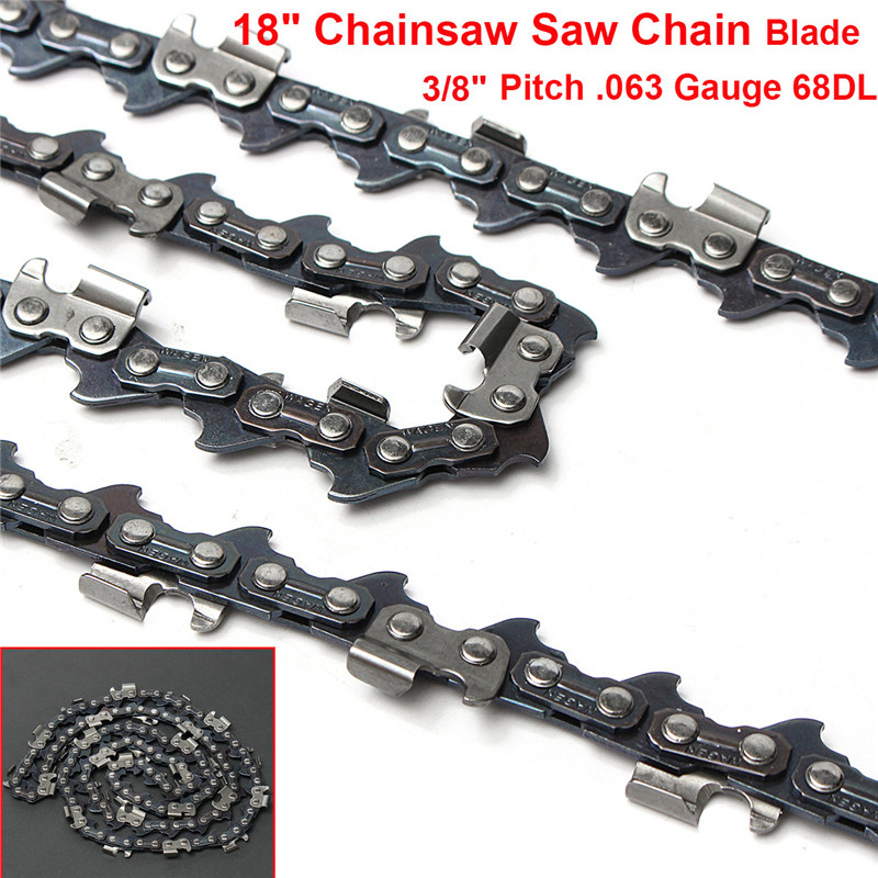 18 Inch Chainsaw Saw Chain Blade Replament For Stihl MS251 MS251C 063 Gauge 68DL Drive Link Saw Chains 16 size chainsaw chains 3 8 063 1 6mm 60drive link quickly cut wood for stihl 039