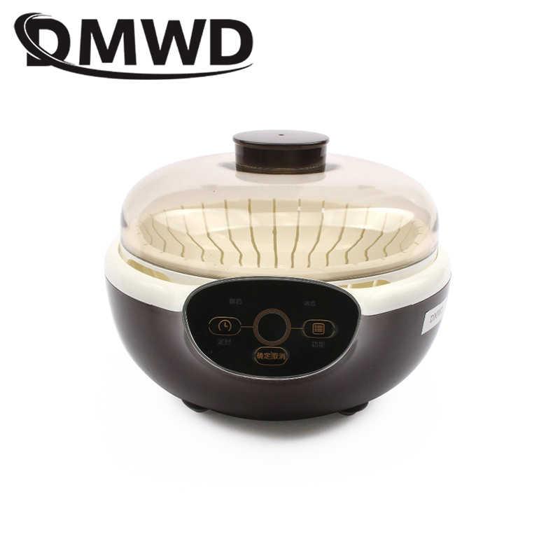 DMWD אוטומטי חשמלי יוגורט יצרנית טיימר תצוגת חמוץ קרם תסיסה מכונה Leben נאטו פרמנטור קרמיקה 8 יוגורט כוסות האיחוד האירופי