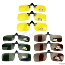 New Day Night Vision Polarized Driving Clip-on Flip-up Lens Sunglasses Glasses