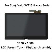 15,6 Full ЖК дисплей Дисплей сенсорный дигитайзер Экран сборки LP156WF4 SPU1 для sony Vaio SVF15N17CXB SVF15N190X SVF15NB1GL SVF15NA1GM