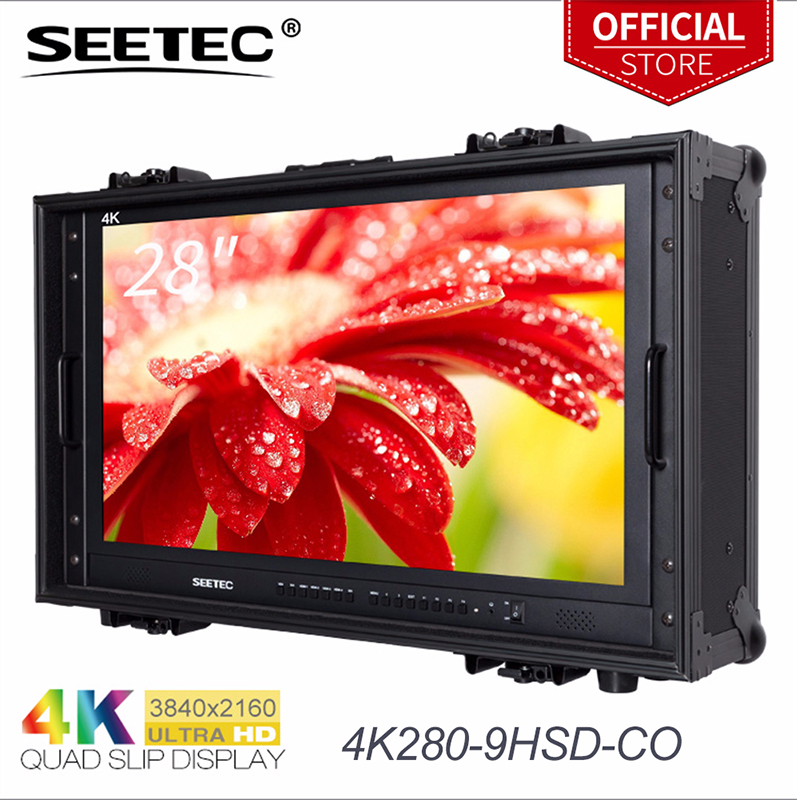купить Seetec 4K280-9HSD-CO 28 Inch 4K Broadcast Monitor for CCTV Monitoring Making Movies Ultra HD Carry-on LCD Director Monitor по цене 78809.1 рублей