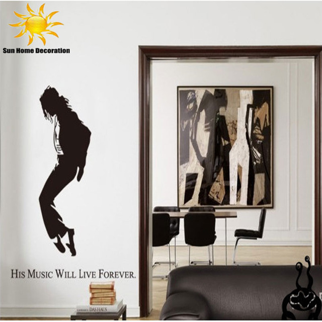 Aliexpress Com Buy Lp Large 150x140cm 59 X55 Jm7173 Black Wall Stickers Michael Jackson Posters Home Decor Hi Quality Sgs Removable Pvc Mixable From