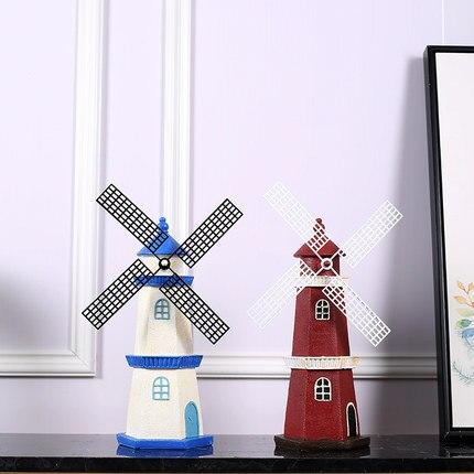 Creative small ornaments retro Dutch windmill model furnishings wine cabinet TV cabinet home living room decorations money jar