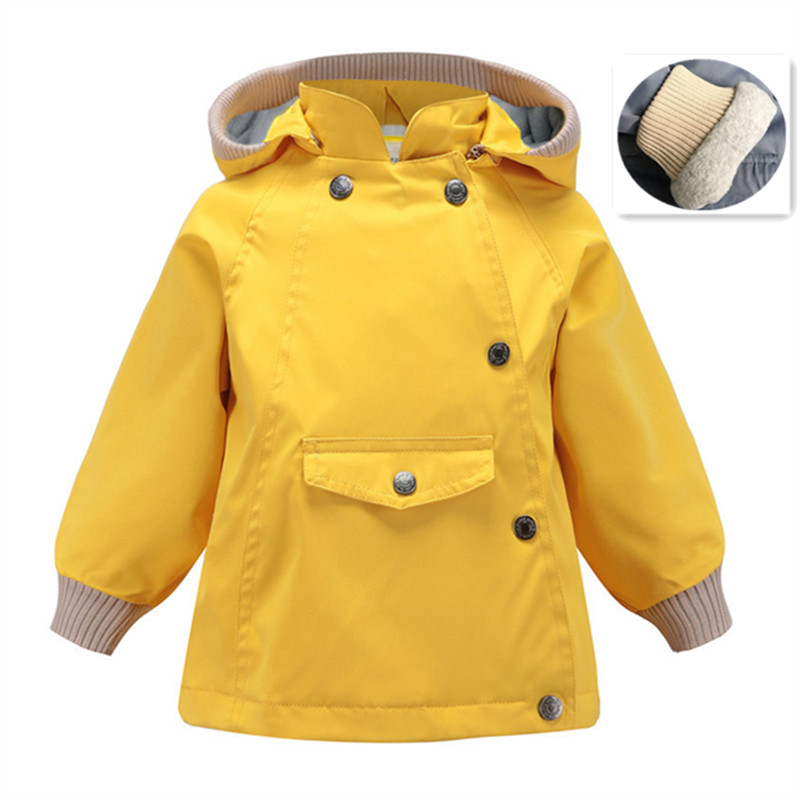 2019 Winter Baby Girls Windbreaker Jackets Coats For Kids Boys Rainproof Clothes For Big Children Outerwear Coats 1 5 7 10 Years in Jackets Coats from Mother Kids