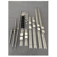 SBR 20 linear guide Rail 6 set SBR20 300/600/1000mm + ballscrew set SFU1605 350/650/1050mm +BK12 BF12 CNC parts