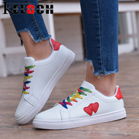 Keloch New Summer White Women Casual Flats Shoes Student Classic Ladies Shoes Women Sneakers Fashion Shoe