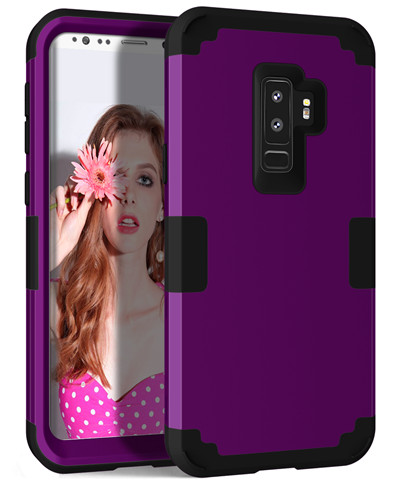 Heavy Duty Hybrid Case For Samsung Galaxy S9 S9Plus Shockproof Armor Rugged Case Cover Hard PC + Soft Rubber Silicone Phone Case (23)