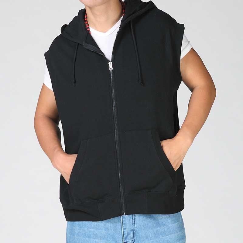 Grande taille Hoodies Hip Hop Sweatshirts sans manches veste hommes décontractée gilet avec casquettes gilet coton lâche Baggy homme vêtements