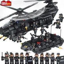 1351pcs Military Swat Army Soldier Model Building Blocks Compatible Legoed City Figure Star Wars Enlighten Bricks Children Toys