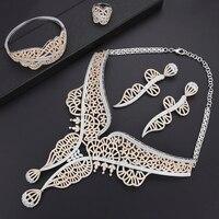 Missvikki мода Италия Дубай нигерийская Свадьба обручение ювелирные изделия Большой цепочки и ожерелья шик кулон серьги кольцо полный фианит