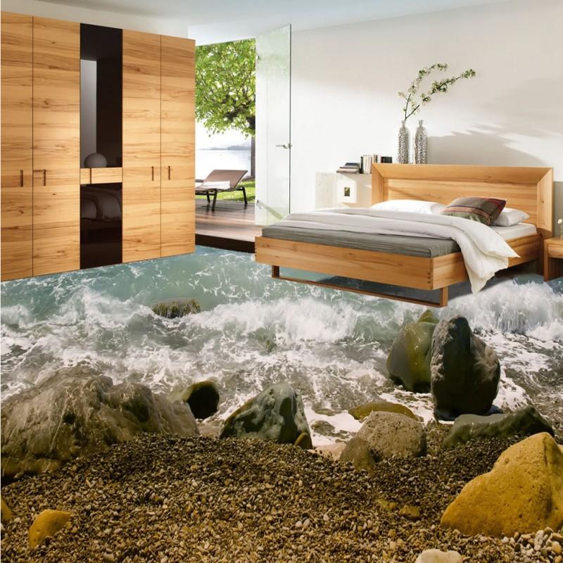 Free Shipping Beach spray stone 3d living room bathroom floor thickened non-slip bedroom coffee house study flooring mural фаллоимитатор реалистичный ultra realistic 8 с вибрацией