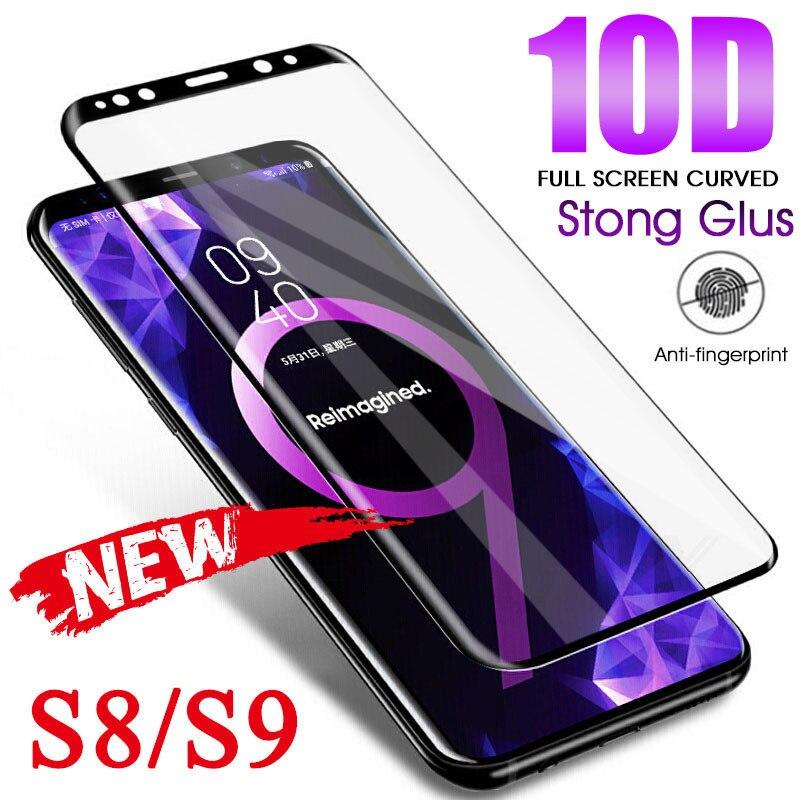 10D изогнутое закаленное стекло для samsung Galaxy S9 S8 S7 Edge Note 8 9 S10e S10 Plus Защитная пленка для экрана-in Защитные стёкла и плёнки from Мобильные телефоны и телекоммуникации