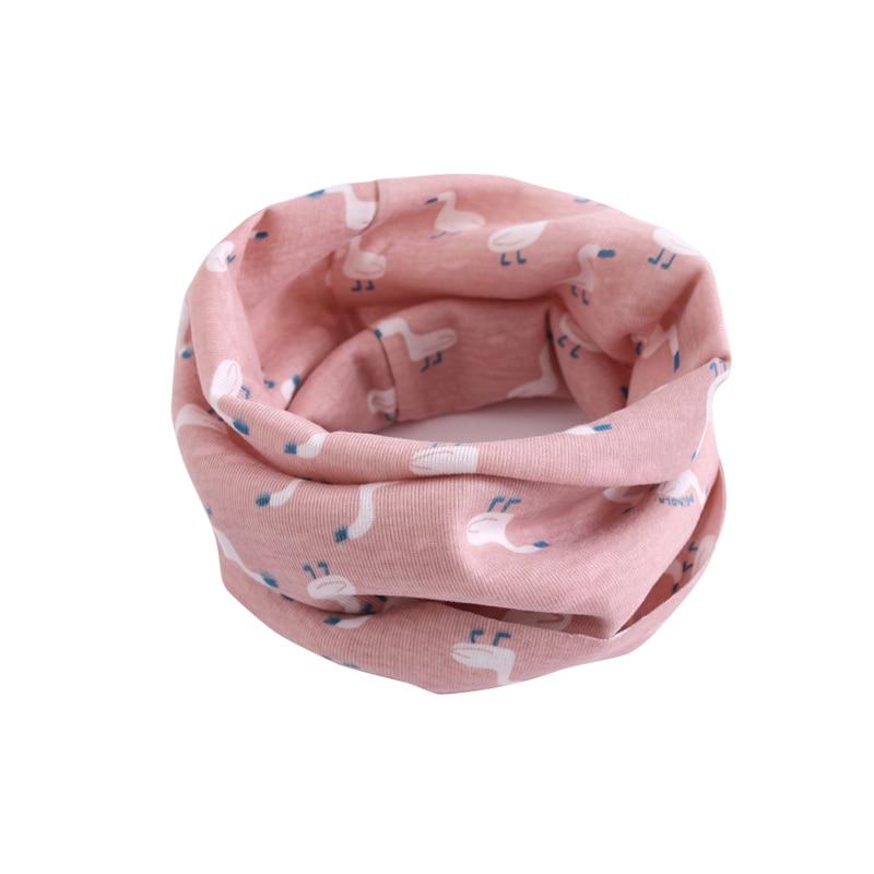 Детский хлопковый шейный шарф с милым принтом; детский теплый шарф; Детские воротники; осенне-зимний шарф-кольцо для мальчиков и девочек; аксессуары для детской одежды - Цвет: wb026
