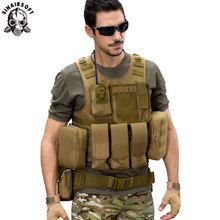 SINAIRSOFT Amphibious Tactical Vest  Airsoft Military Pouches Adjustable Molle Protection Outdoor Fishing Hunting CS Vest LY2029 жилет армейский no molle cs