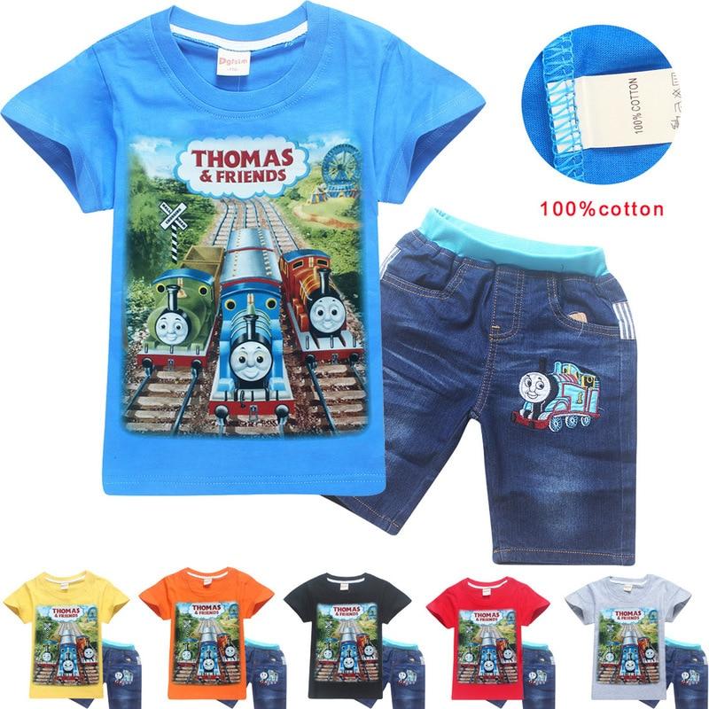 Boys t shirt thomas and friends clothes children shirts camisetas thomas train clothing roupas infantis menino kids clothes sets