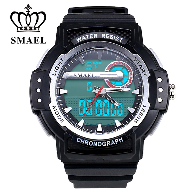 Sport Watches Men LED Digital Dual Time Wristwatch Male Clock 50M Waterproof Casual Watch Quartz Military Watch Army Gift WS1503