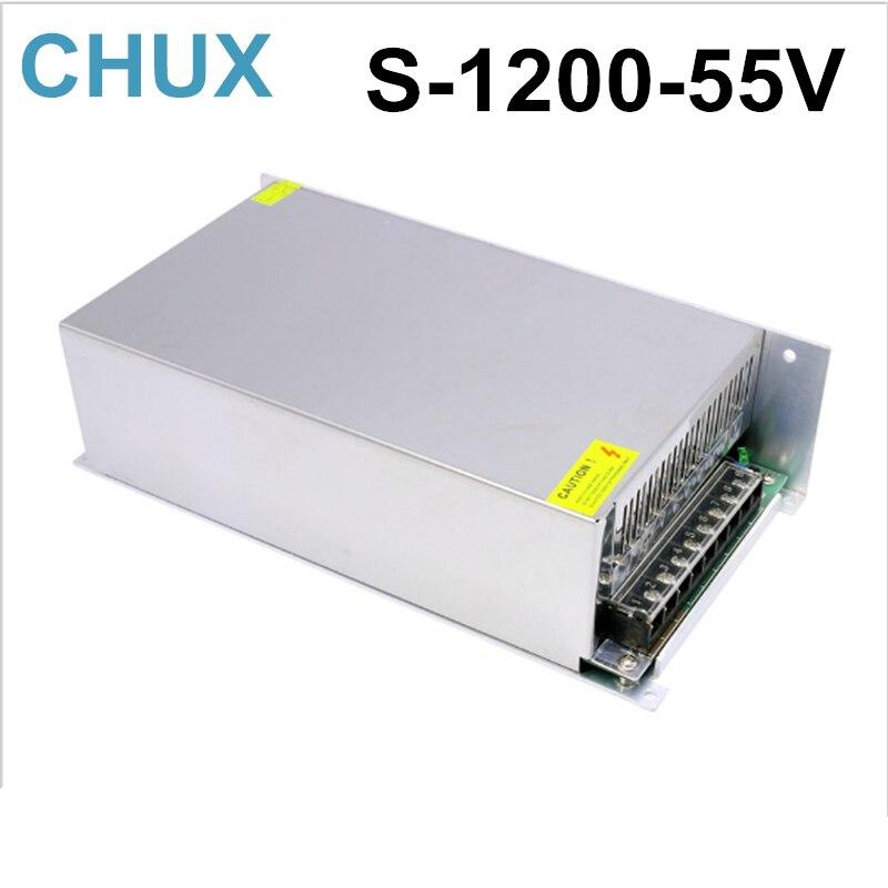 1200W 21A 55V switching power supply 220v 110v ac to 55V dc power supply for cnc