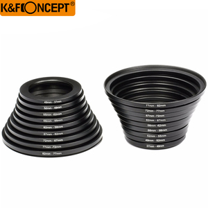 Image 5 - K&F CONCEPT 18pcs Camera Lens Filter Step Up&Down Adapter Ring Set 37 82mm 82 37mm For Canon Nikon DSLR