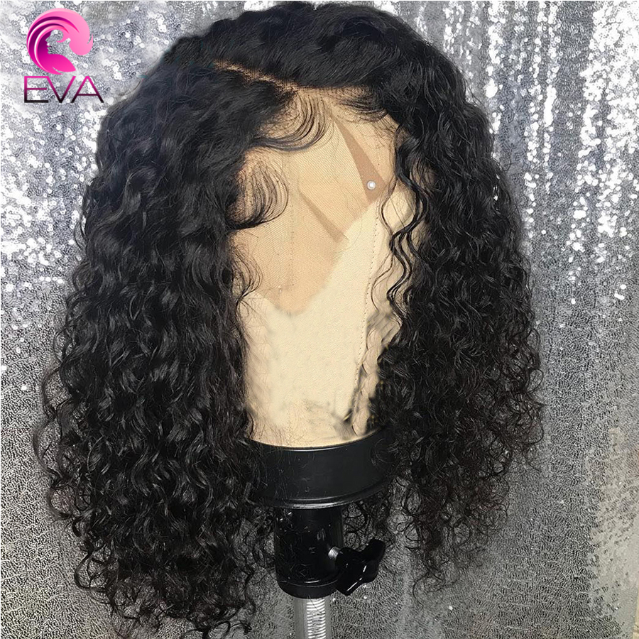 Eva 360 Lace Frontal Human Hair Wigs For Black Women Pre Plucked With Baby Hair Curly Brazilian Bleached Knots Remy Hair Wigs