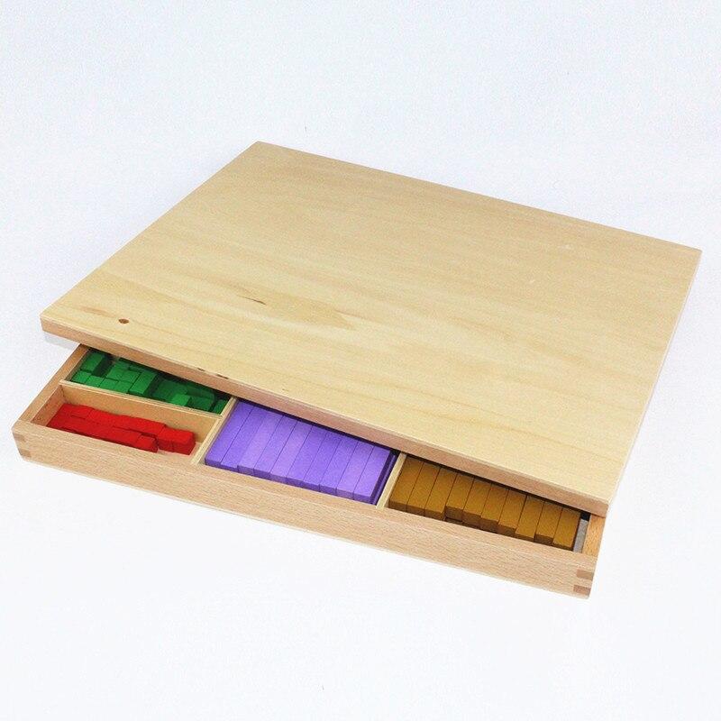 20 sortes 1-10 cm blocs bâton numérique en bois jouets enfant jouets éducatifs enseignement Montessori jouet de mathématiques - 5