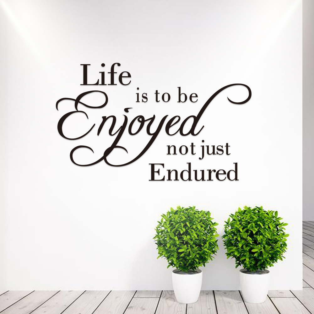 Life inspiration quotes wall sticker sayings and phrase wall decal life inspiration quotes wall sticker sayings and phrase wall decal vinyl wall art removbale stickers home decor free shipping in wall stickers from home amipublicfo Images