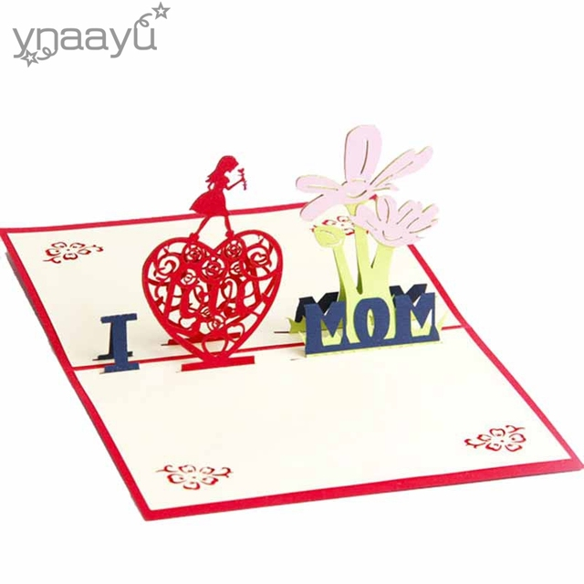 Ynaayu 1pcs 3d i love mom greeting cards handmade design best gift ynaayu 1pcs 3d i love mom greeting cards handmade design best gift for christmas mother day m4hsunfo