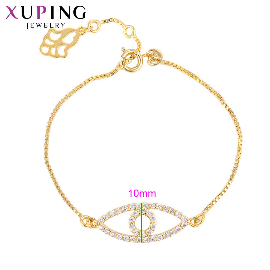 Xuping Fashion Simple Noble Bracelets Light Yellow Gold Color Plated for Women Christmas Day Jewelry Gifts S80-75072