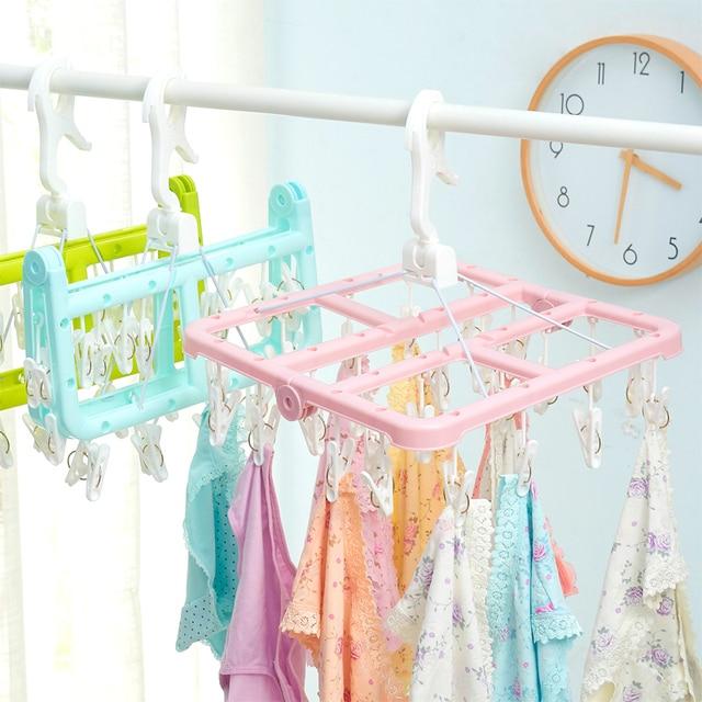 multi underwear socks drying racks clip hanger home baby clothes