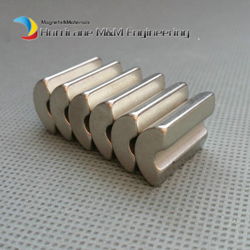 Фото 6pcs NdFeB Arc Segment L19xW14.5xT5 mm N42 Diametrically Servo Moto magnet for generators wind turbine Neodymium Rotor Magnet