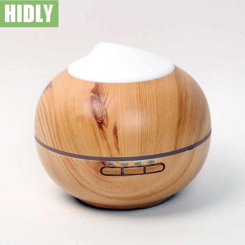 ФОТО 200ml Mist Humidifier Ultrasonic Aroma Diffuser for Office Home Bedroom Living Room Study Yoga Spa -Light Wood Grain