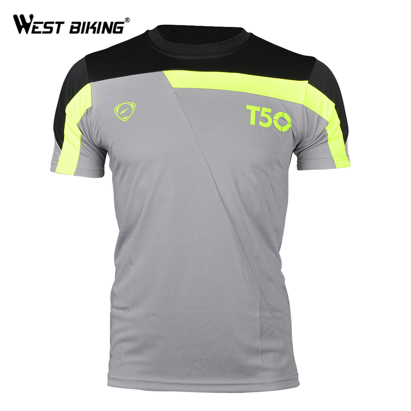 WEST BIKING fietsshirts ademend sneldrogend T-shirts korte mouwen - Wielersport