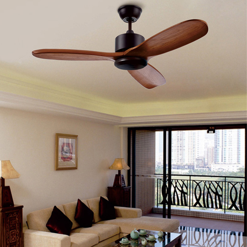 Luxury wooden ceiling fan light 220v vintage ceiling fans - Bedroom ceiling fans with remote control ...