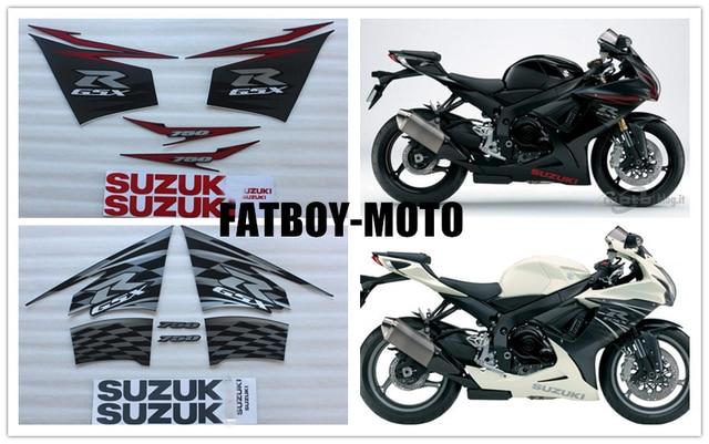 2011 2012 bike motorcycle for Suzuki GSXR GSX-R GSX R 600 750 K11 decal sticker set -2 color options