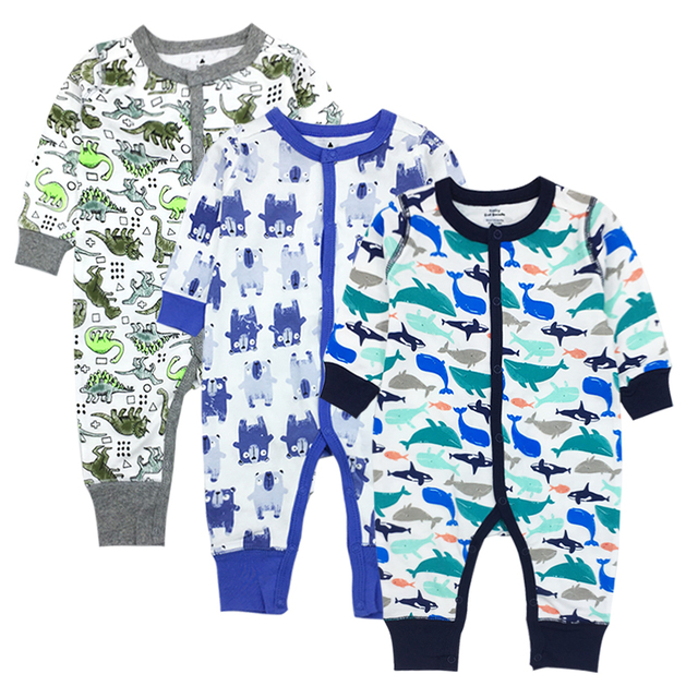 9d667a7a4 Aliexpress.com   Buy Fashion Newborn Baby Ropmer Cartoon Long Sleeve ...