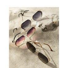 INMAN Elegant Beautiful Hole Out Frame Design Color Gradual Change Women Sunglasses