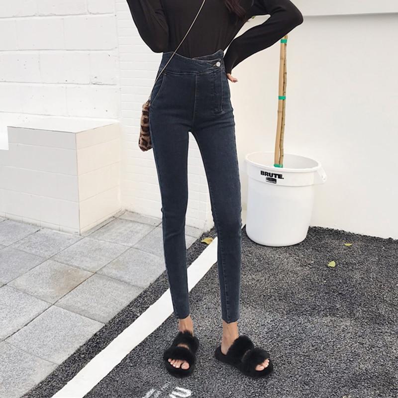 Skinny jeans femme 2019 nouveau Spring autumn jean Slim High waist jeans Small feet pencil pants women ladies jeans Korean tide