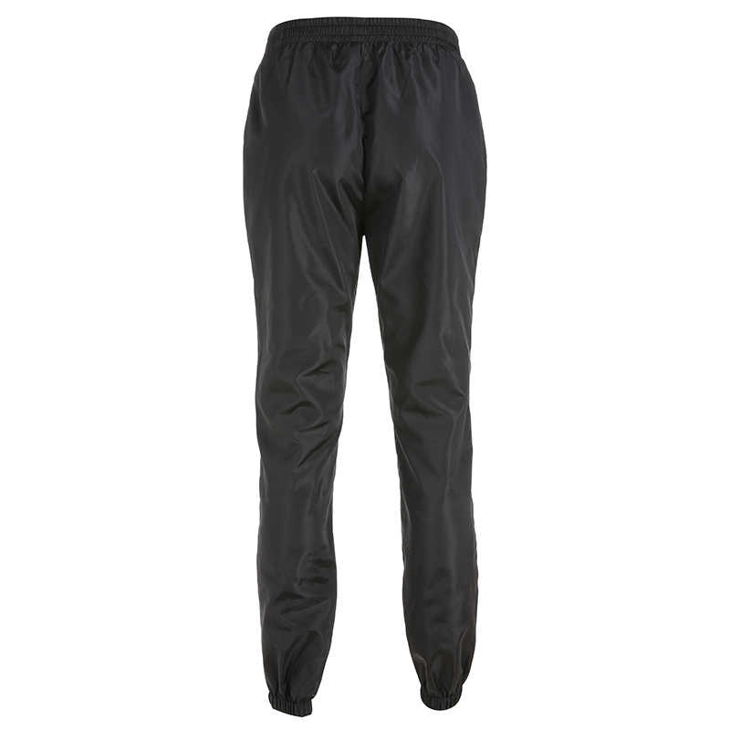 Weekeep черные лоскутные брюки женские свободные уличные брюки карандаш с высокой талией тканые Плиссированные Длинные брюки женские