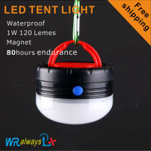 1W LED camping light tent light 120Lumes Use 3AA batteries waterproof