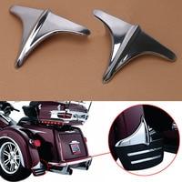 2x Chrome Motorcycle Rear Fender Wheel Shell Trim Cover Front Lip Edge Trim For Harley Trike