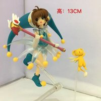 Card Captor Sakura FigFIX 008 Kinomoto Sakura Battle Costume Ver PVC Action Figure Collectible Model Toy