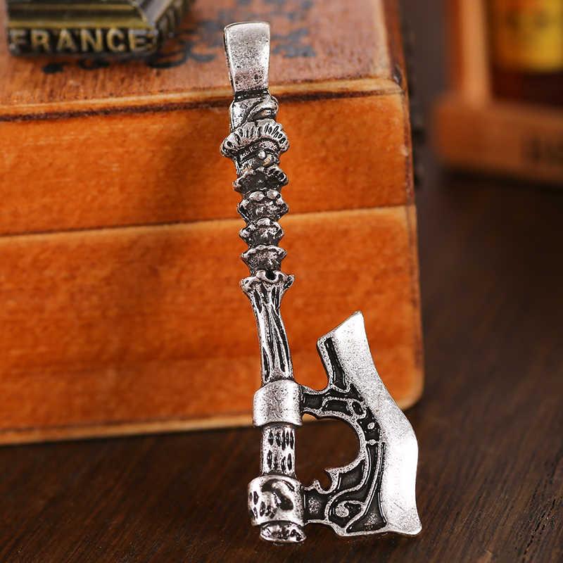 1 pieza Peru Flash Axe colgante pagano vikingo Norse joyería doble lado gota envío