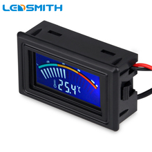 LEDSMITH Digital LCD Pointer Thermometer Car Water Temperature Meter Gauge C/F for Computer Case,Air Conditioning Boilers