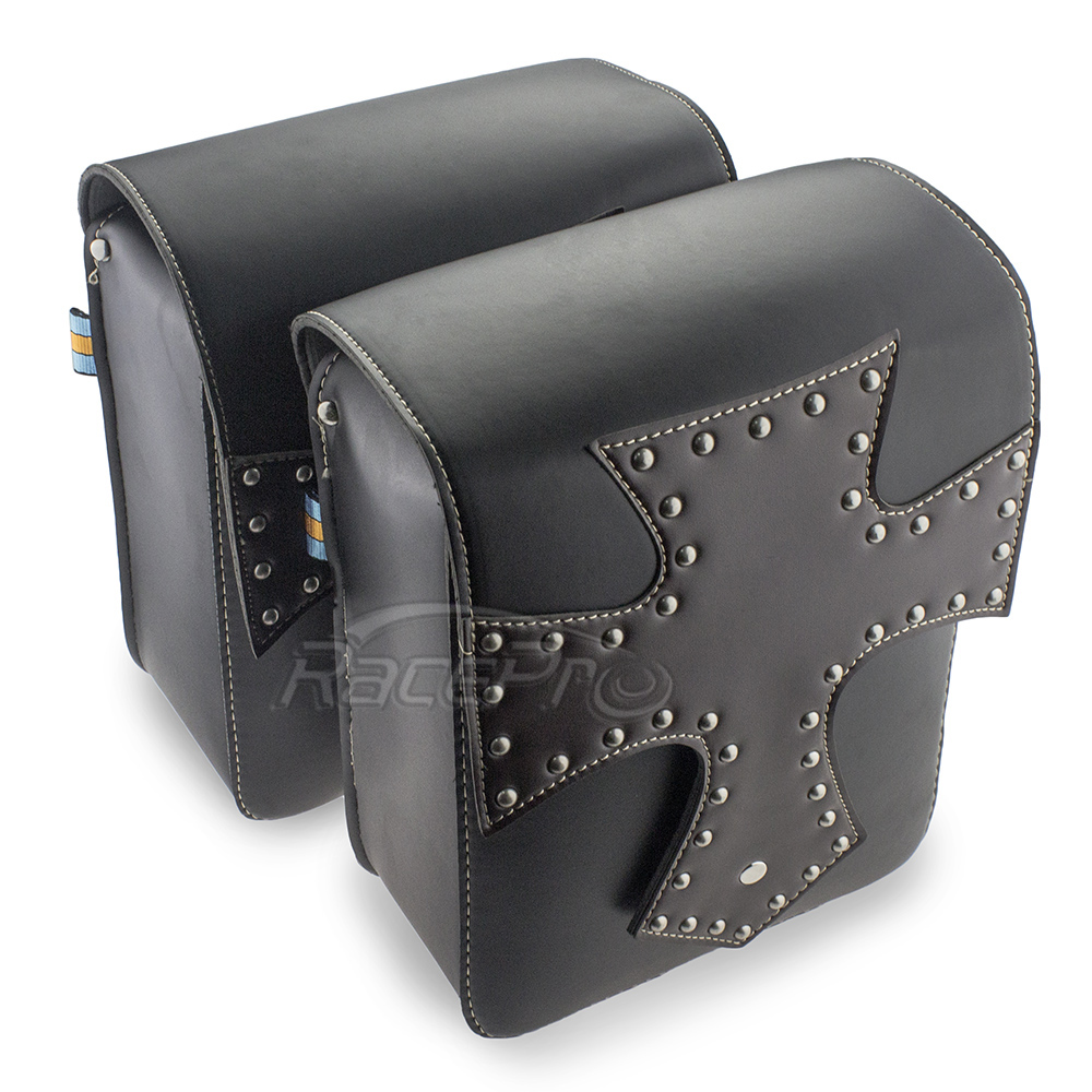 Leather Motorcycle Bag Saddlebags Side Motorbike Bags For Harley Sportster Touring Softail Dyna