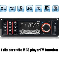 best price sale 1 din Car Radio MP3 Stereo Player Bluetooth Phone AUX FM USB SD Remote Control 12V Audio Car Electronics
