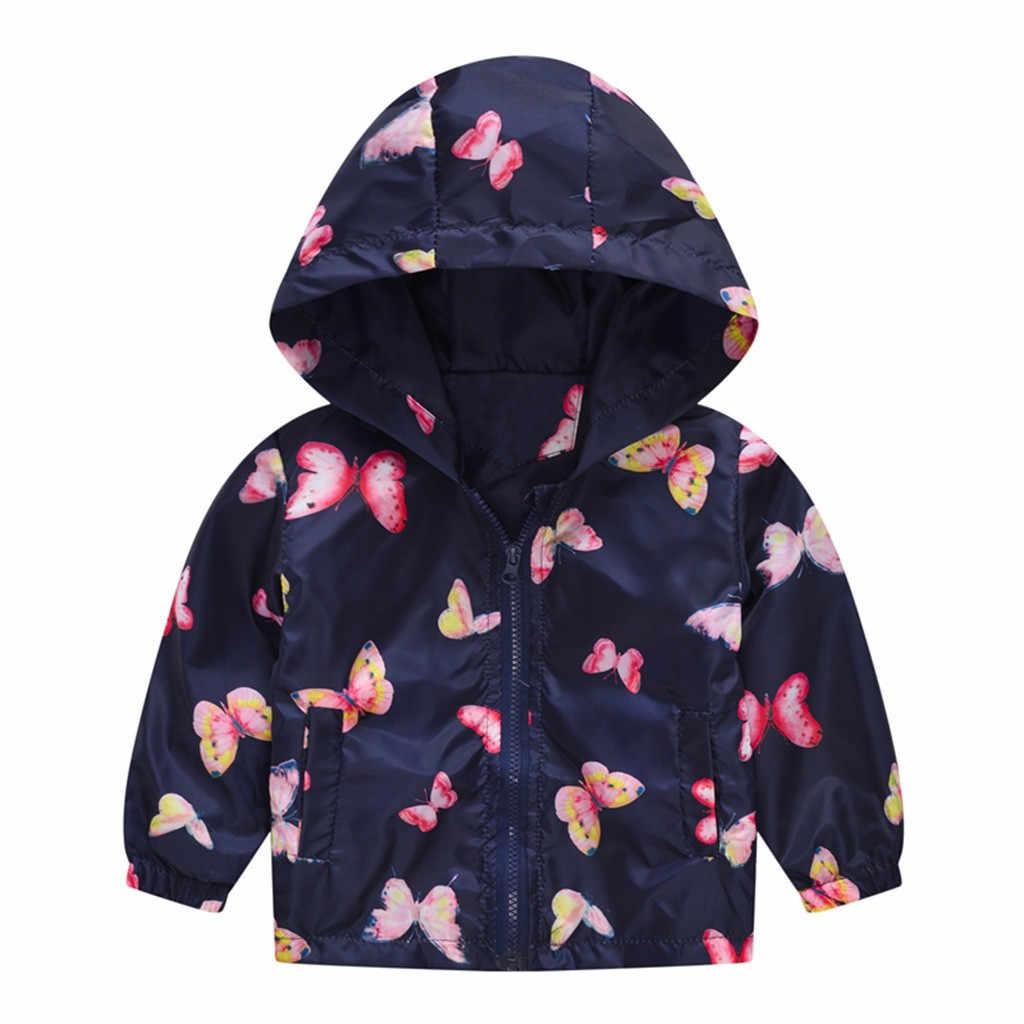Kinderen Kleding Pasgeboren Baby Meisjes Jongens Jas Camouflage Vlinder Afdrukken Lente Kapmantel Hoodies Kinderen Outfit