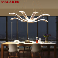 Modern Minimalist LED Chandeliers Lights Petal shaped Creative Chandelier Bedroom Lamp LED Art Living Dining Lamp Fashion Study