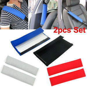 2PCS Car Shoulder Cover Cushion Seat Belt Pad Strap BackPack Harness Safety Auto Interior Accessories Seat Belt Padding For Kids