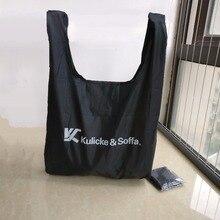 500 шт./лот, нейлон, полиэстер, многоразовые складные сумки для покупок, для супермаркета, водонепроницаемые, для продуктов, Tote, на заказ, с принтом логотипа