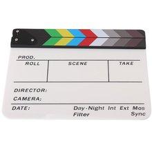 И т. д.-Универсальный акрил красочные Clapperboard ТВ Плёнки фильм Сланец Cut ролевая игра поддержать Голливуд